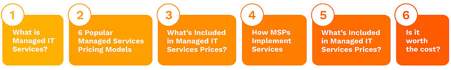 A guide to managed IT services pricing