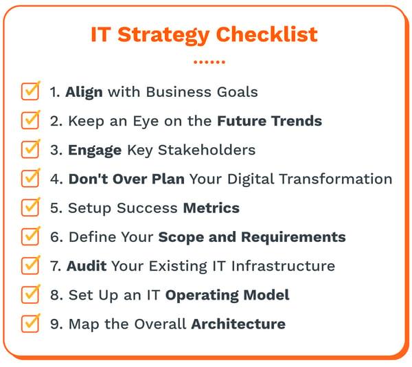 IT strategy checklist