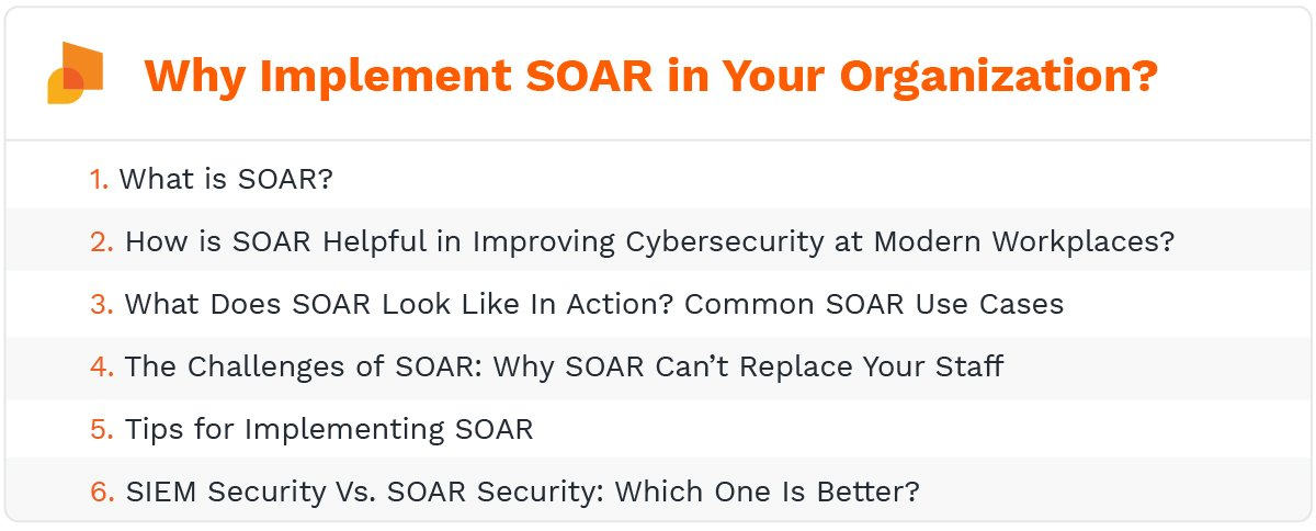 Why implement SOAR in your organization?