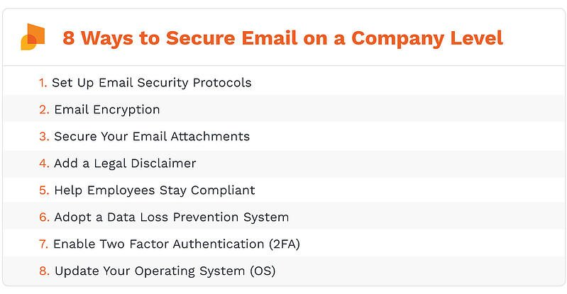 How to secure company's email