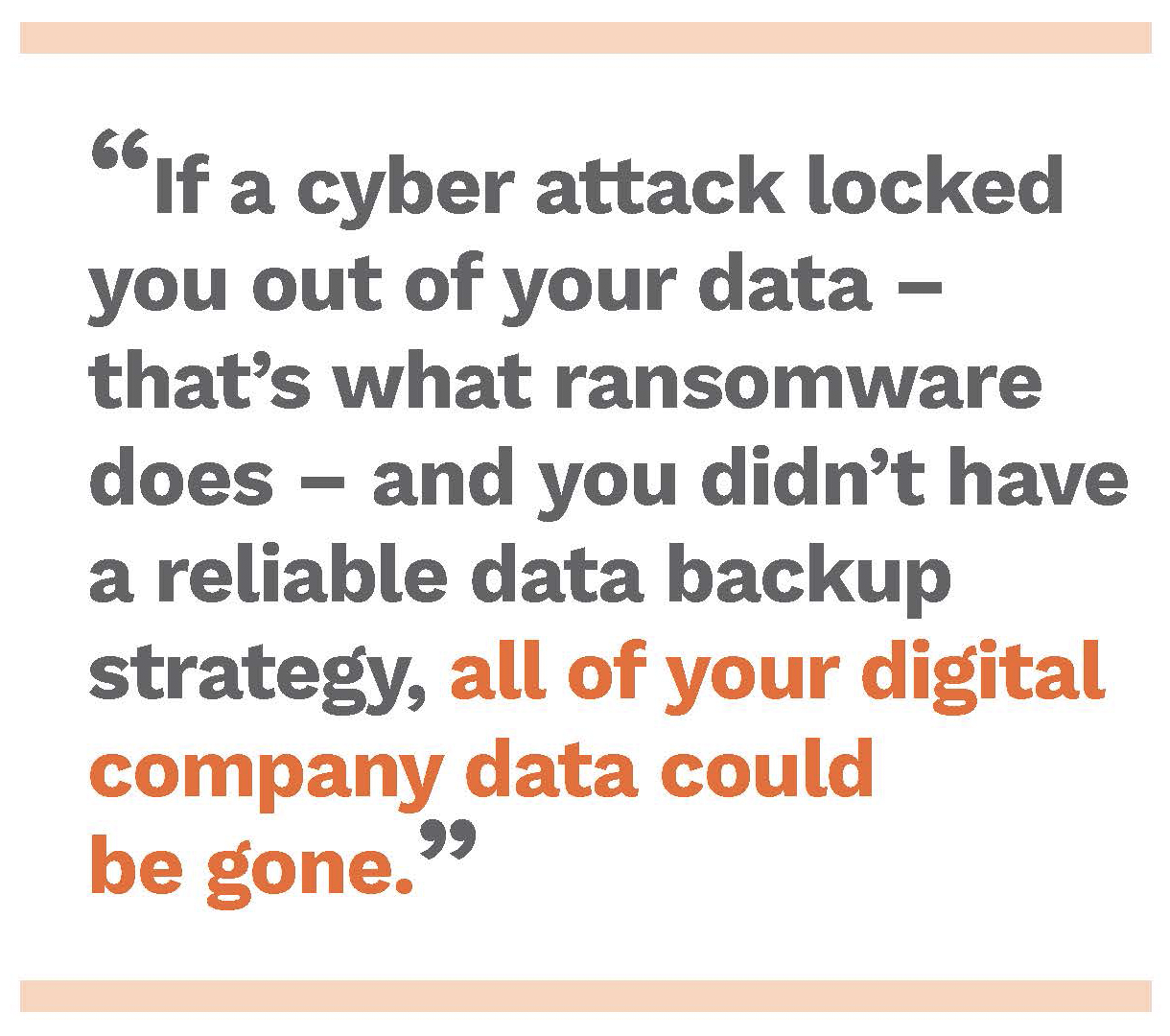 Ransomware can lock all of your company information. Free eBook