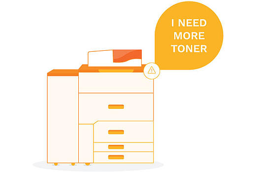 "Printer saying ""I need more toner"""