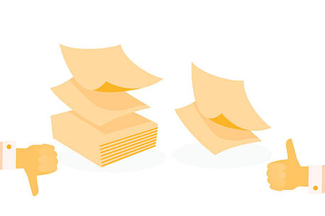 eco-friendly office Cutting paper by 50%