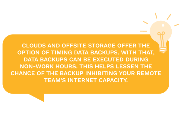 informative text on cloud and offsite storage