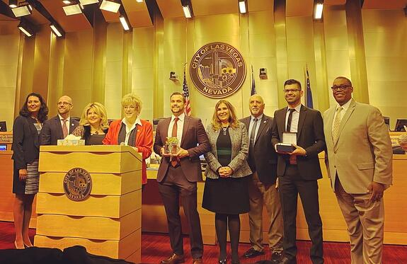 Office1 receiving the Mayor's Urban Design Award from the City of Las Vegas.