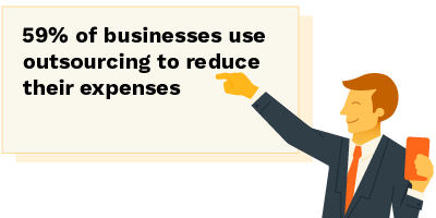 businesses outsource IT companies to reduce their expenses
