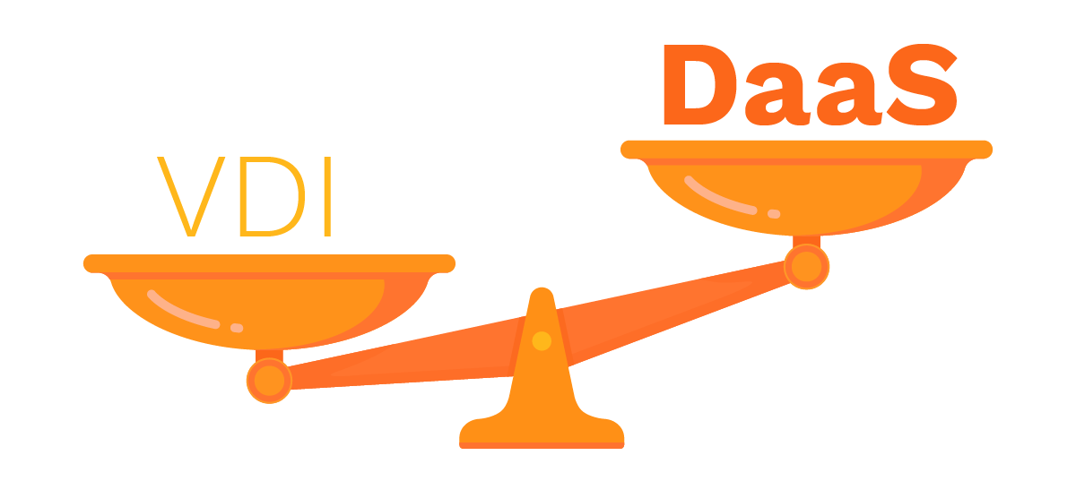 orange weight scale with VDI and Daas words
