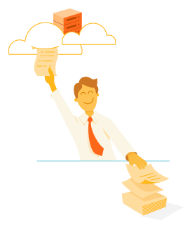 business owner using cloud services