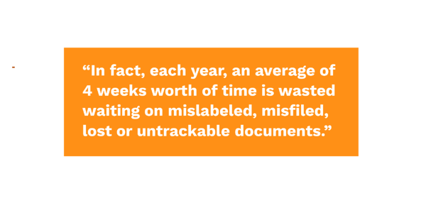 time is wasted on untrackable legal documents