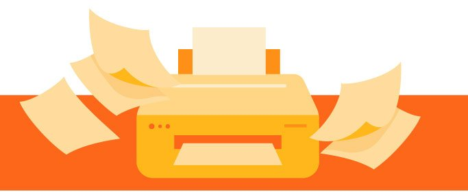 orange printer increasing workflow efficiency