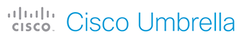 Cisco Umbrella company logo in blue text