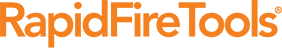 RapidFire Tools company logo in orange text